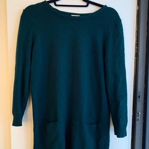 J. Crew Green Tunic / Dress with 2 front pockets